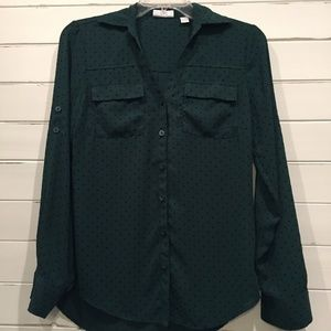 Green New York & Company Blouse XS